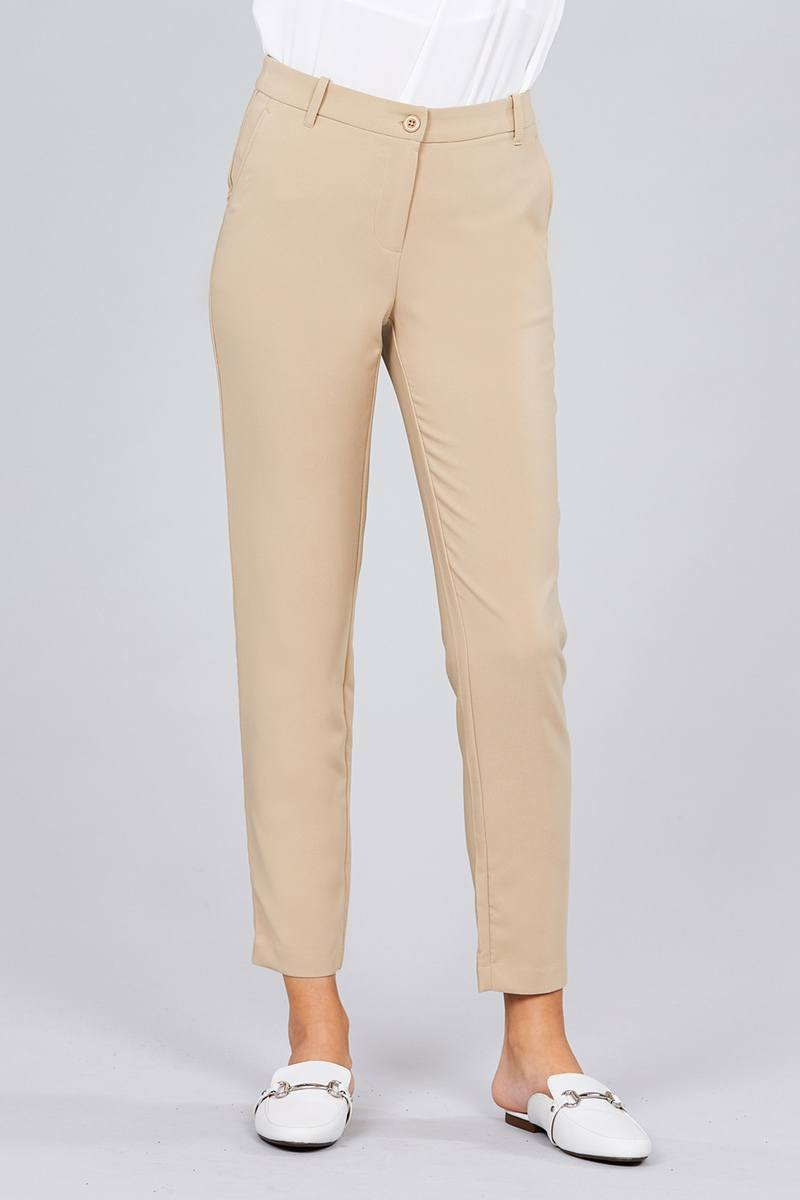Seam Side Pocket Classic Long Pants - De Bawa Inc.