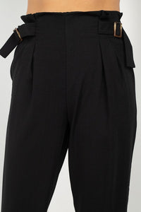 High Waist Paperbag Wide Pants - De Bawa Inc.