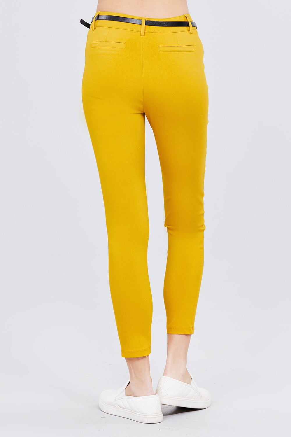 Bengaline Belted Pants - De Bawa Inc.
