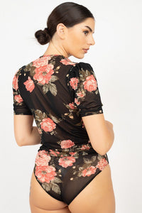 Short Sleeve Floral Bodysuit