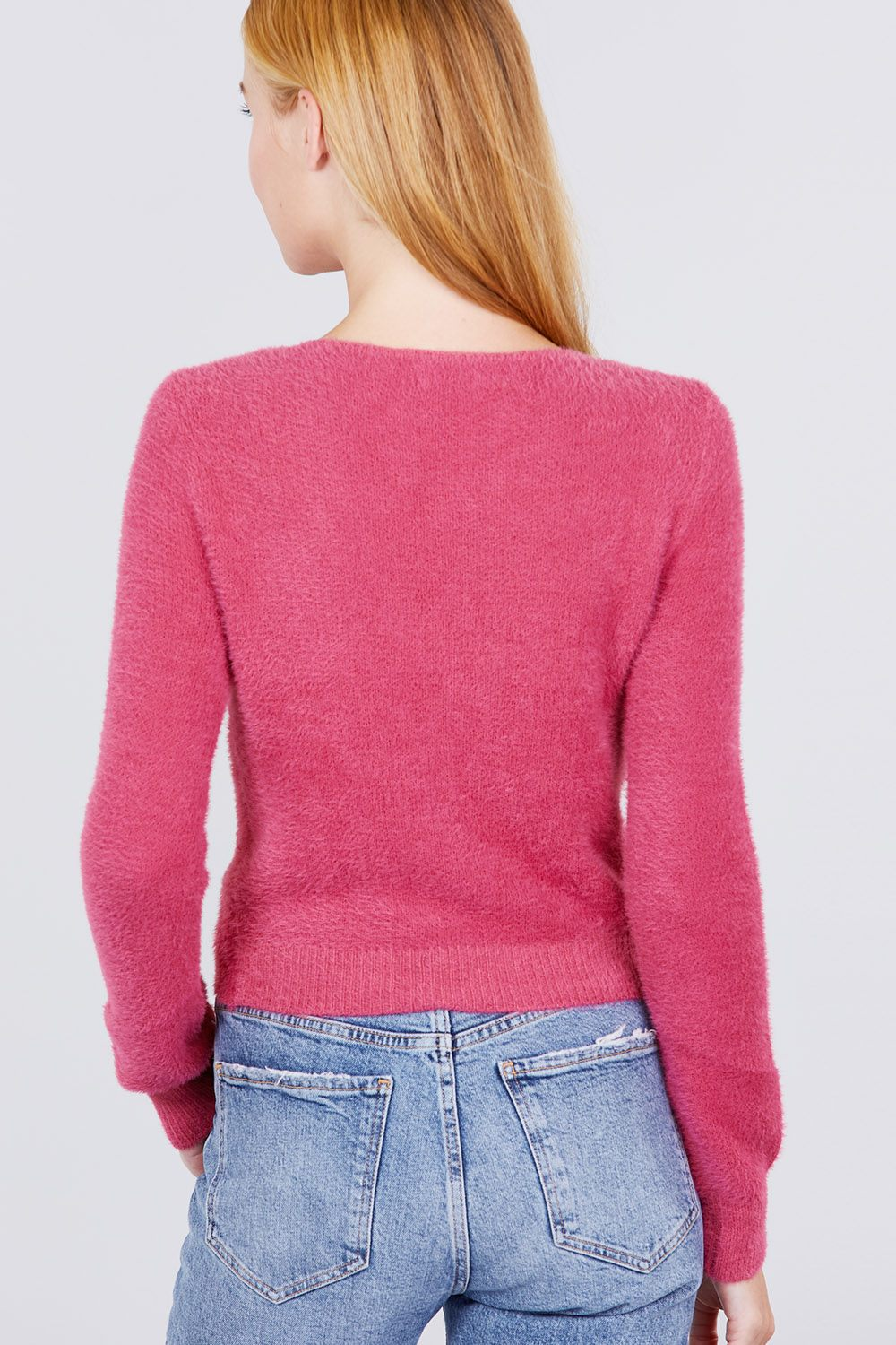 Front Twisted Knot Cozy Sweater