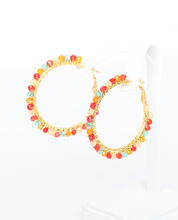 Alyssa Gemstone Hoop Earrings