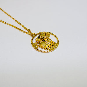 Elephant Gold Charm Necklace