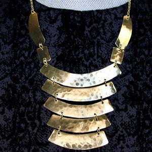 Old Fashioned Gold Statement Necklace - De Bawa Inc.