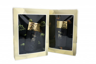 35ml perfume gift box (frag. 02) with Chogan scarf with variable pattern