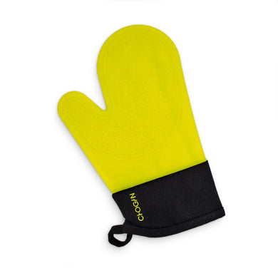 Yellow silicone oven glove