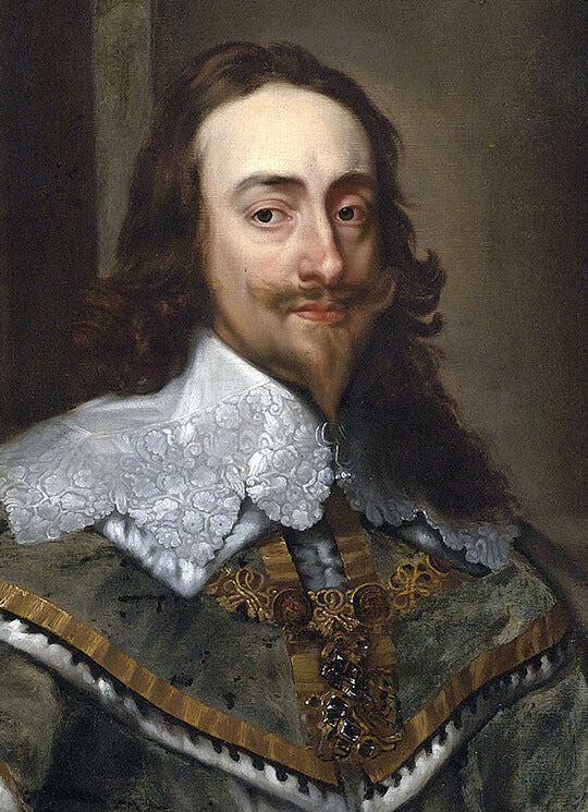 Van Dyck painted King Charles I who also sported a similar Van Dyke style