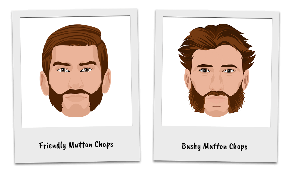 Variations of the Mutton Chops Beard Style