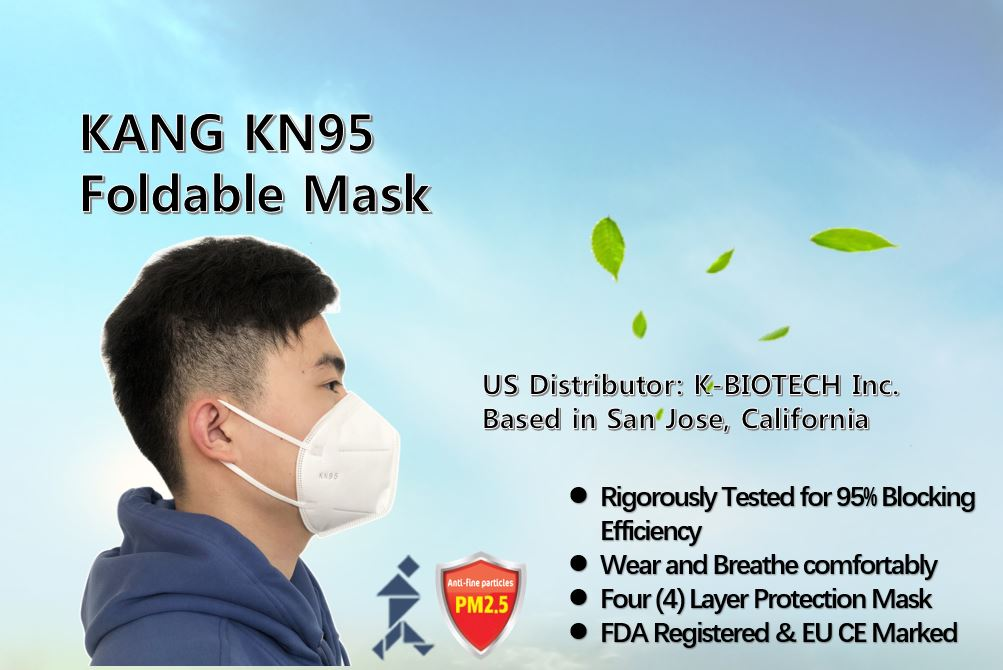 KN95 MASK 95% FILTERING PROTECTION & 4 LAYER MASK, FDA REGISTERED (5 Masks)