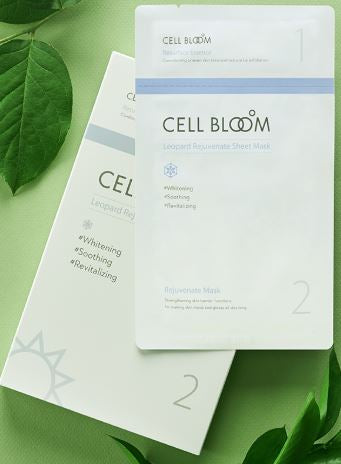 CELL BLOOM | No. 1 Korean Beauty Stem Cell Mask 5 Sheet I Made By No.1 Korean Pharma Company | Set of 5 Masks I STEM CELL & Natural Leopard Flower Ingredients