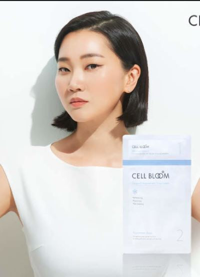 CELL BLOOM | No. 1 Korean Beauty Stem Cell <장윤주 마스크팩> Mask 5 Sheet I Made By No.1 Korean Pharma Company | Set of 5 Masks I STEM CELL & Natural Leopard Flower Ingredients