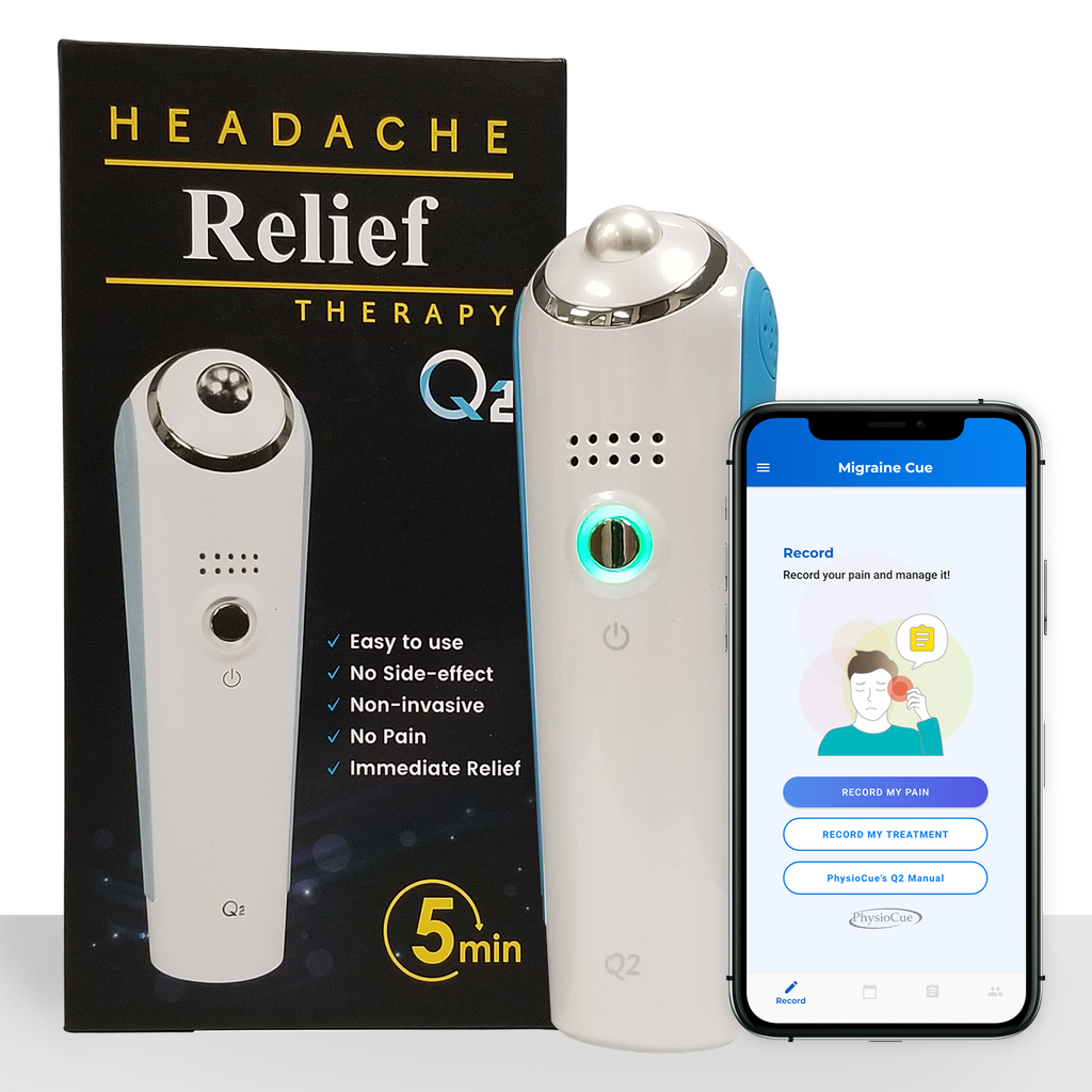 Q2 Headache Migraine Therapy Device-Physiocue Thermal Neurostimulation Treatment