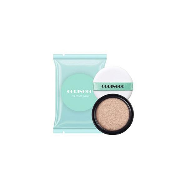 Mint Blossom Cover BB Cushion (15g) CORINGCO 21 Cover Ivory + Refill