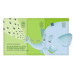 BlackHead Clear 3-Step Nose Pack (6.2g) NATURE REPUBLIC