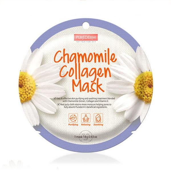 Circle Collagen Mask (1 Sheet) PUREDERM Chamomile