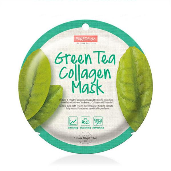Circle Collagen Mask (1 Sheet) PUREDERM Green Tea