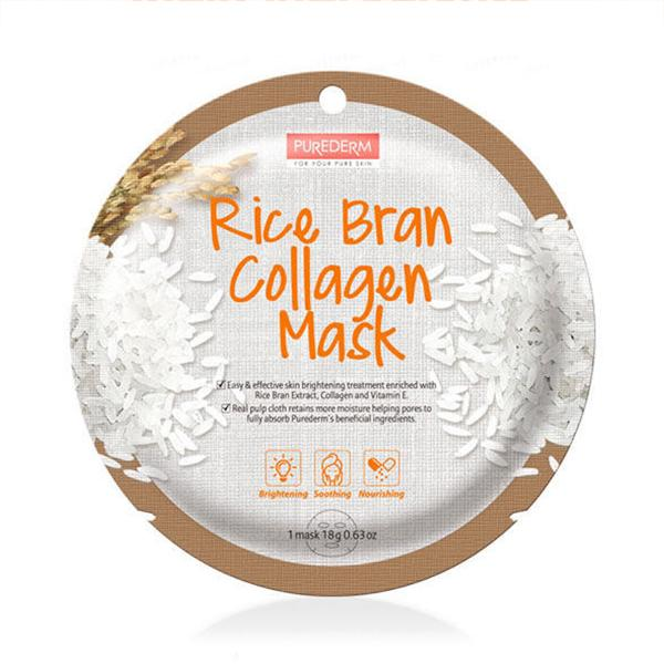 Circle Collagen Mask (1 Sheet) PUREDERM Rice Bran