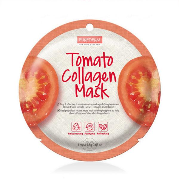 Circle Collagen Mask (1 Sheet) PUREDERM Tomato