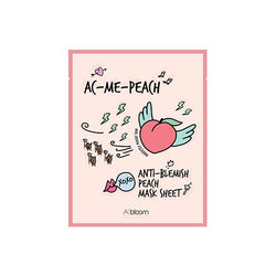 AC-Me-Peach Anti-Blemish Peach Mask (1 Sheet) A'BLOOM