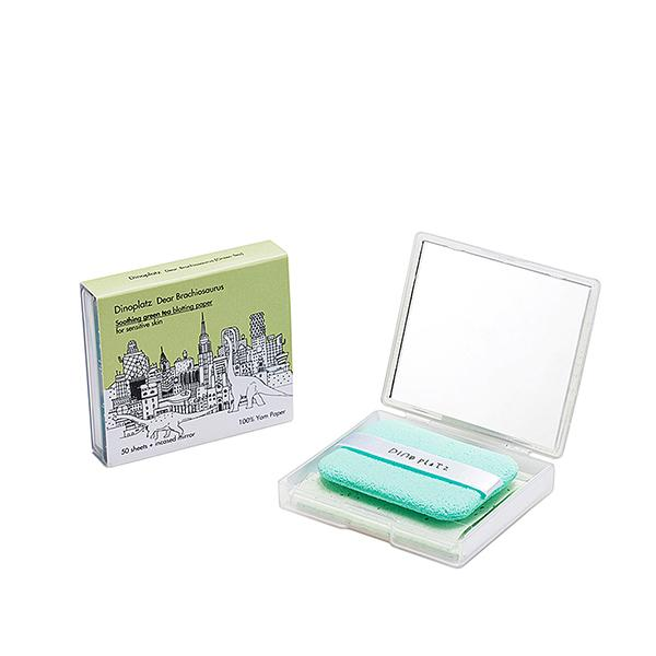 Dinoplatz Dear Brachiosaurus Soothing Green Tea Blotting Paper (50 sheets) too cool for school