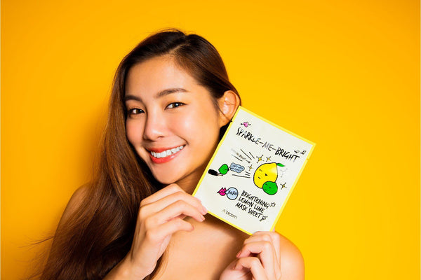 Sparkle-Me-Bright Brightening Lemon Lime Mask (1 Sheet) A'BLOOM
