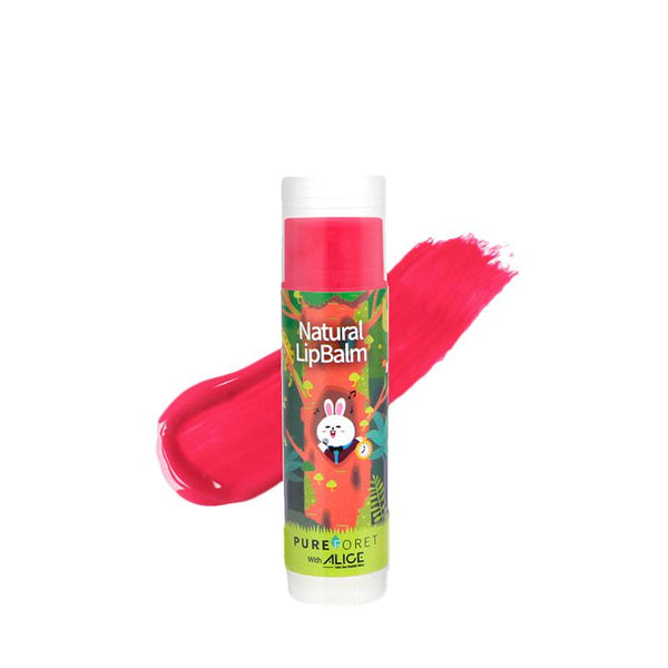 Natural Lip Balm with Alice (4.8g)_Sweet Pink PUREFORET