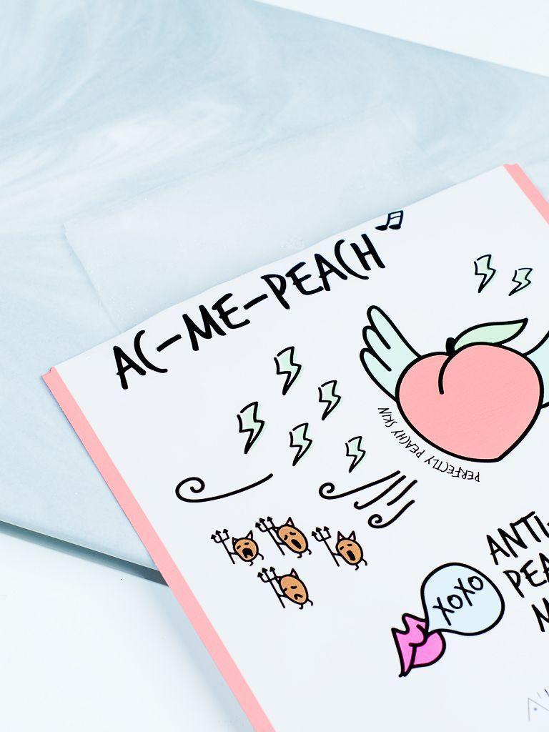 AC-Me-Peach Anti-Blemish Peach Mask (10 Sheets)