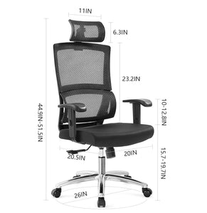 Prime Ticova Ergonomic Office Chair High Back Mesh Chair With Gmtry Best Dining Table And Chair Ideas Images Gmtryco