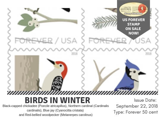 Birds in Winter U.S. Forever Stamps