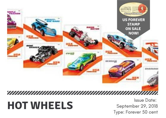 Hot Wheels US Forever Stamps
