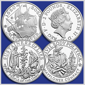United States Mint and Royal Mint Collaborate on Mayflower Anniversary Coins and Medals