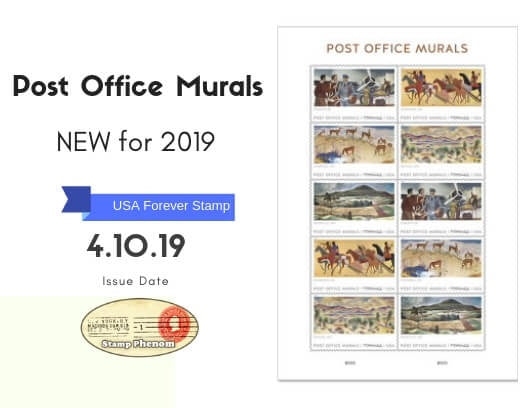 Post Office Murals US Forever Stamp