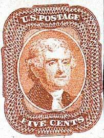 Thomas Jefferson Five Cent Stamp