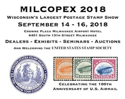Milwaukee Philatelic Society MILCOPEX 2018 Stamp Show