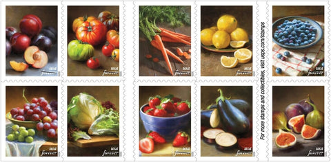 Fruits and Vegetables Stamps