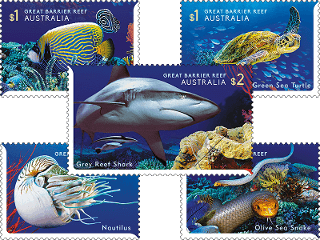 Great Barrier Reefs Stamps