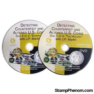 Detecting Counterfeit and Altered U.S. Coins-Coin DVD's and Software-Advision-StampPhenom