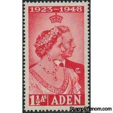 Aden 1949 Silver Wedding Issues-Stamps-Aden-Mint-StampPhenom