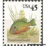 United States of America 1992 Fish - Pumpkinseed-Stamps-United States of America-Mint-StampPhenom