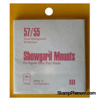 57/55 Showgard Plate Blocks and Covers (Clear)-Mounts & Cutters-Showgard-StampPhenom