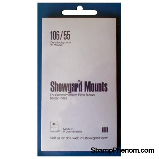 106x55 Showgard Plate Blocks and Covers (Black)-Mounts & Cutters-Showgard-StampPhenom