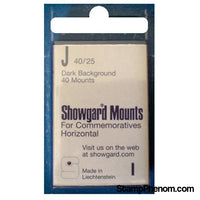 40x25mm Showgard Mounts - Pre-cut Singles (Black)-Mounts & Cutters-Showgard-StampPhenom