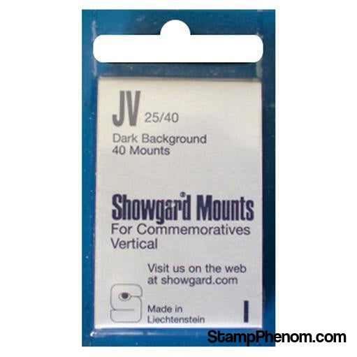 25x40mm Showgard Mounts - Pre-cut Singles (Black)-Mounts & Cutters-Showgard-StampPhenom