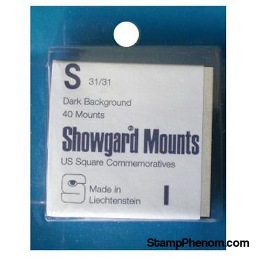 31x31mm Showgard Mounts - Pre-cut Singles (Black)-Mounts & Cutters-Showgard-StampPhenom