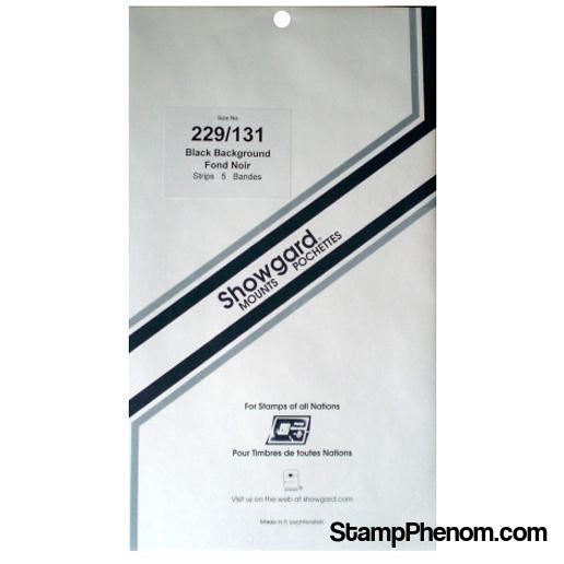 229x131 Showgard Blocks, Strips and Souvenir Sheets (Black)-Mounts & Cutters-Showgard-StampPhenom