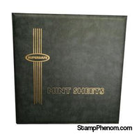MA1 - Deluxe Mint Sheet Album, 100 Sheets (Black)-Mint Sheets & Album-Supersafe-StampPhenom