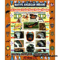 Native Americans US - 15 Stamps-Stamp Packets-HE Harris & Co-StampPhenom