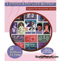 Famous American Women - 20 Stamps-Stamp Packets-HE Harris & Co-StampPhenom