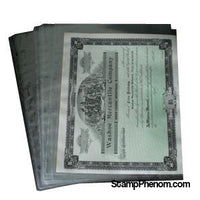 1 Pocket Archival Polyproplyene Pages, Clear-Binders & Sheets-Supersafe-StampPhenom