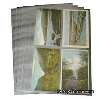 4 Pocket Post Card Archival Polyproplyene Pages, Clear-Binders & Sheets-Supersafe-StampPhenom
